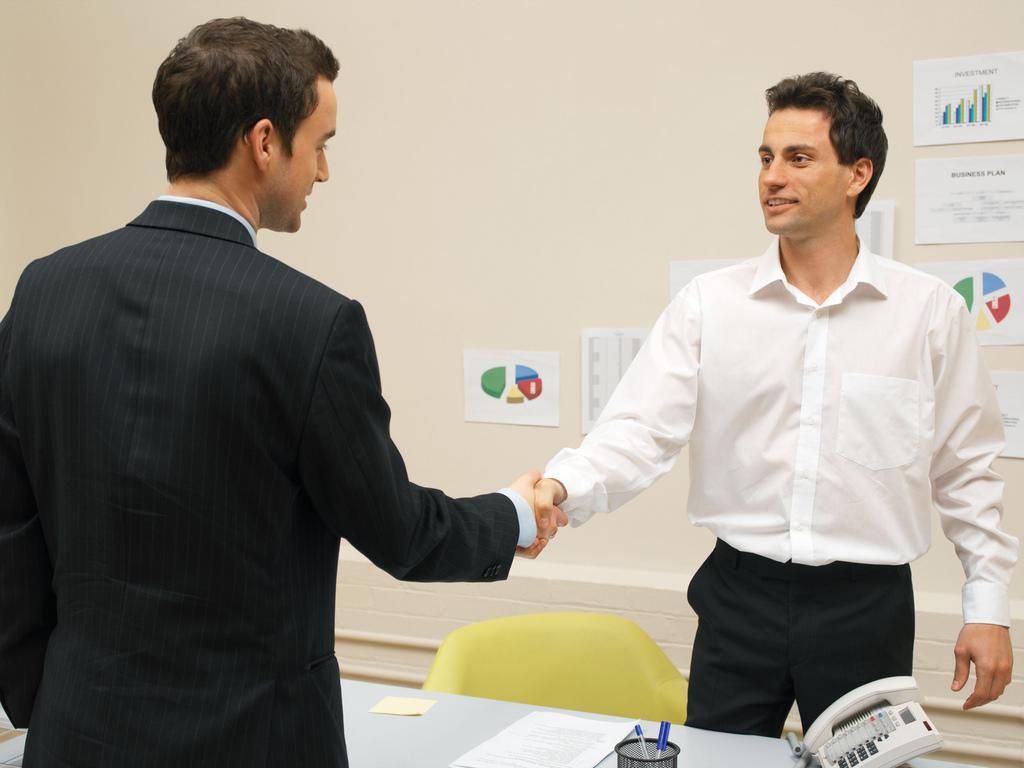 job interview tips shaking hands