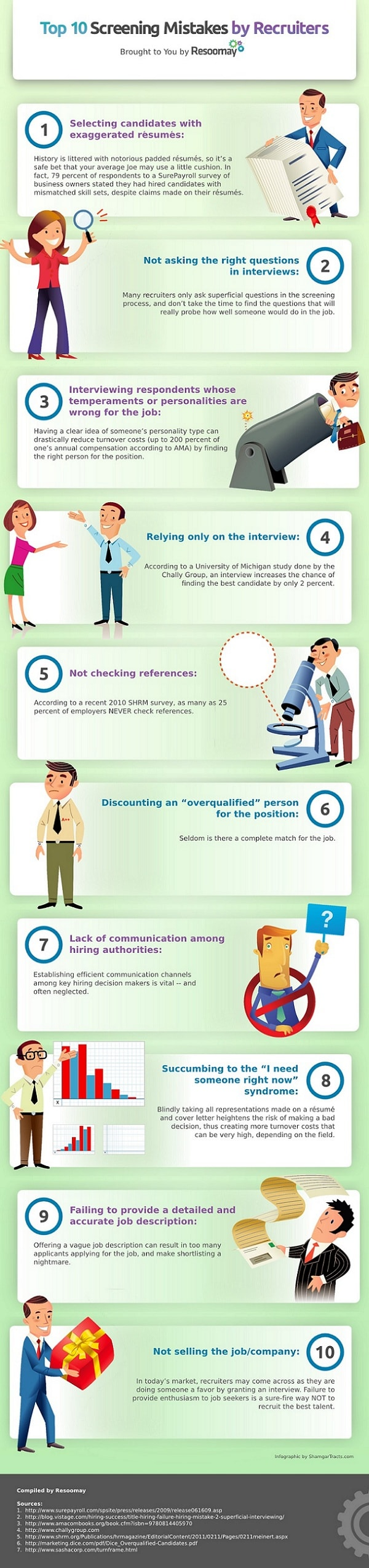 Screening Mistakes for Recruiters Infographic