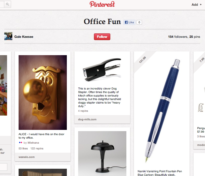 Pinterest Office Board
