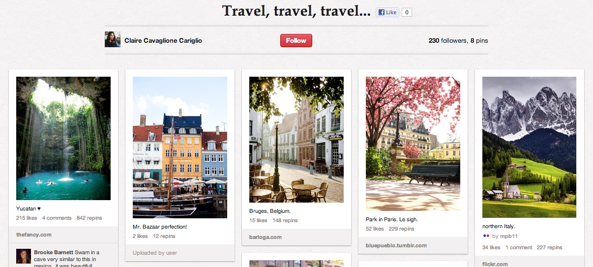 Pinterest Travel Board Recruitment
