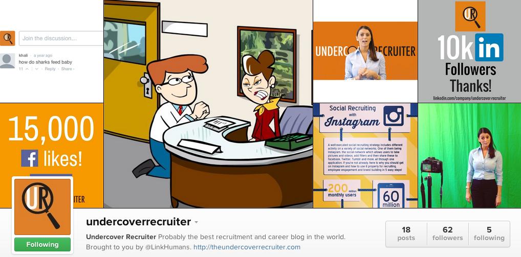 instagram undercover recruiter