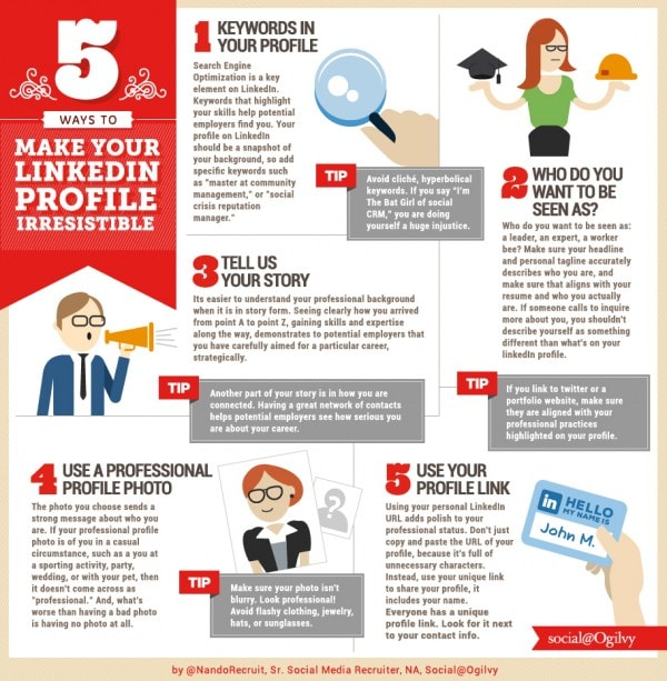 5 Tips to Make Your LinkedIn Profile Irresistible [Infographic]