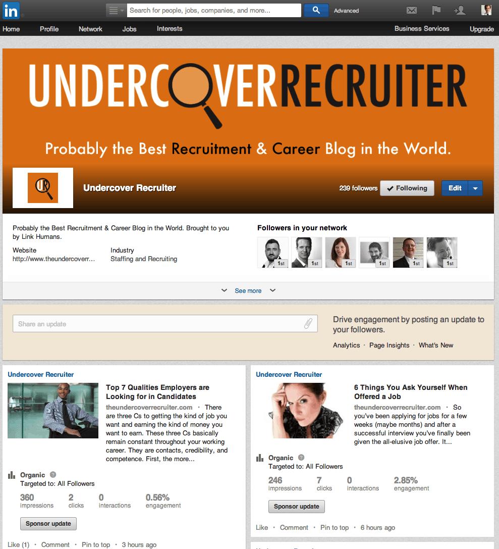 Undercover Recruiter: Overview | LinkedIn