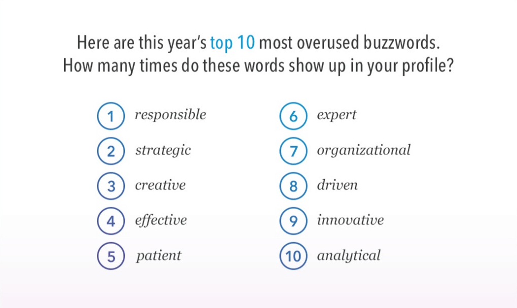 What are the Top 10 Words NOT to Use on Your LinkedIn Profile?