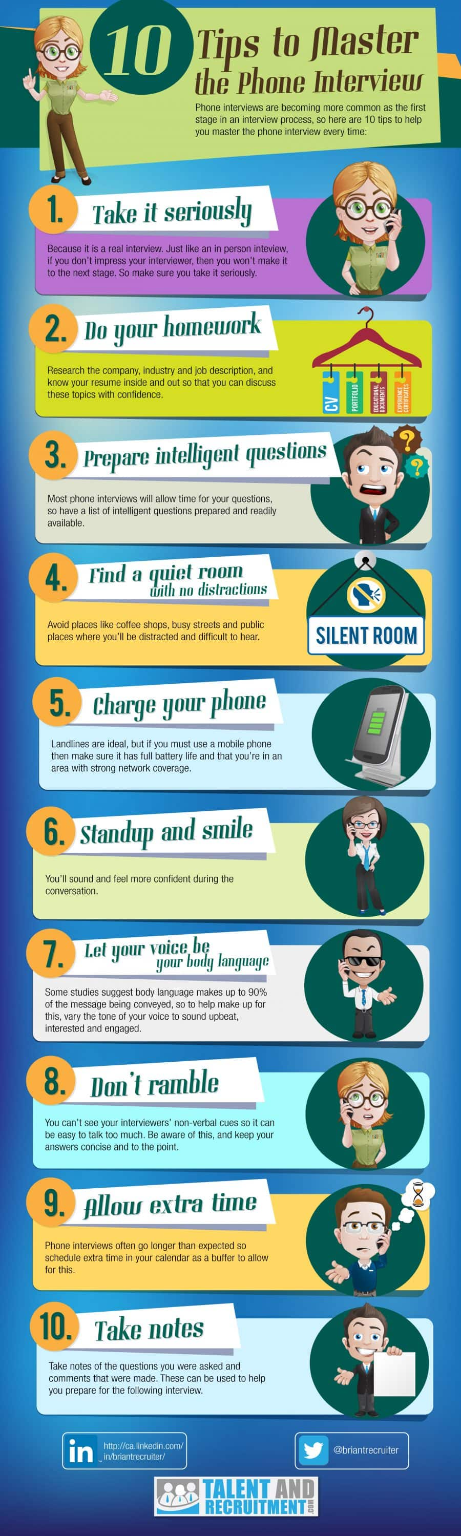 10 Tips Master Phone Interview