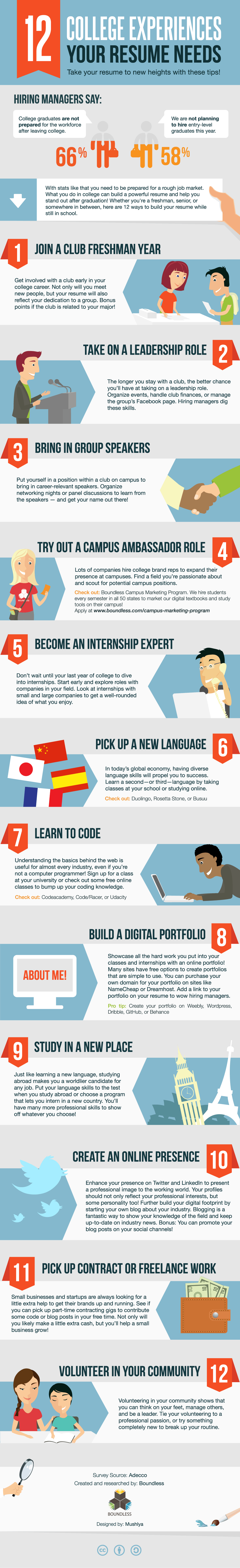 12 College Experiences Every Resume Needs [INFOGRAPHIC]