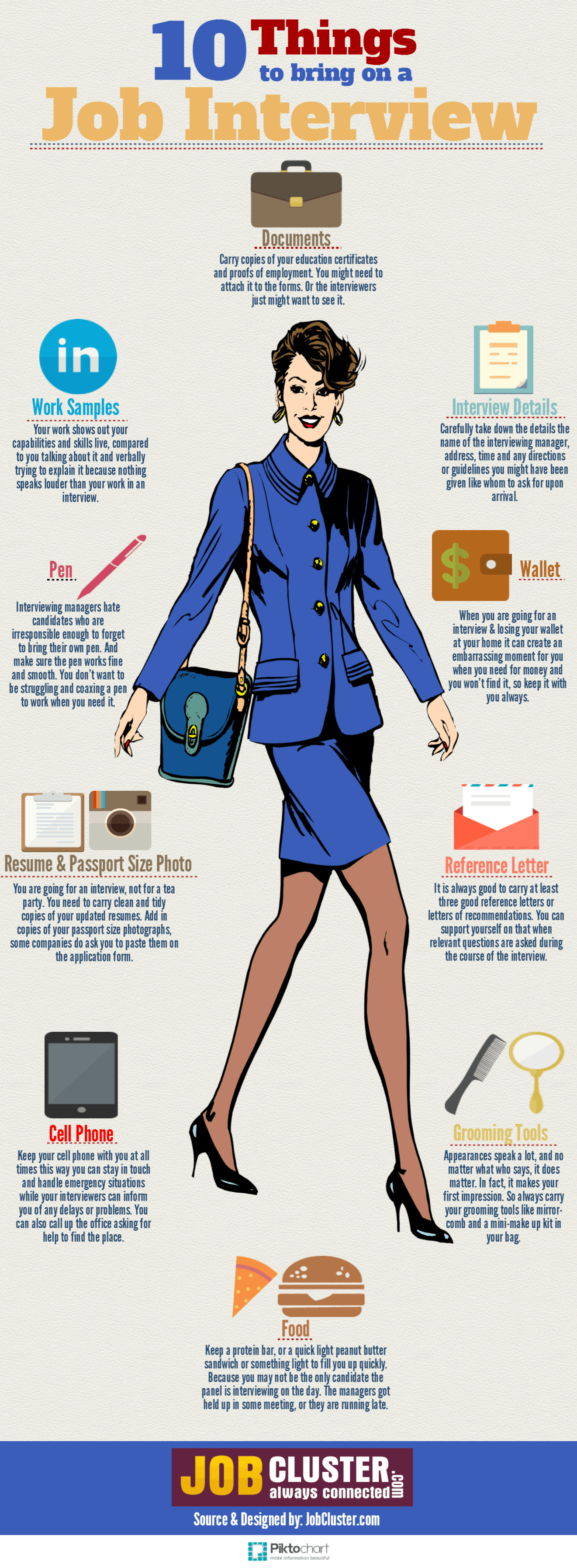 top things to bring to a job interview 10 things to bring on job interview