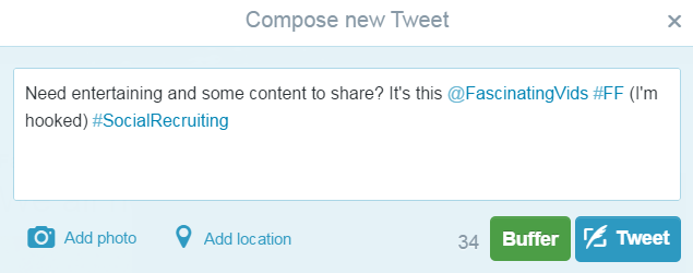 example Twitter #ff #followfriday 1