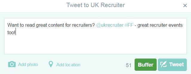 example Twitter #ff #followfriday 2
