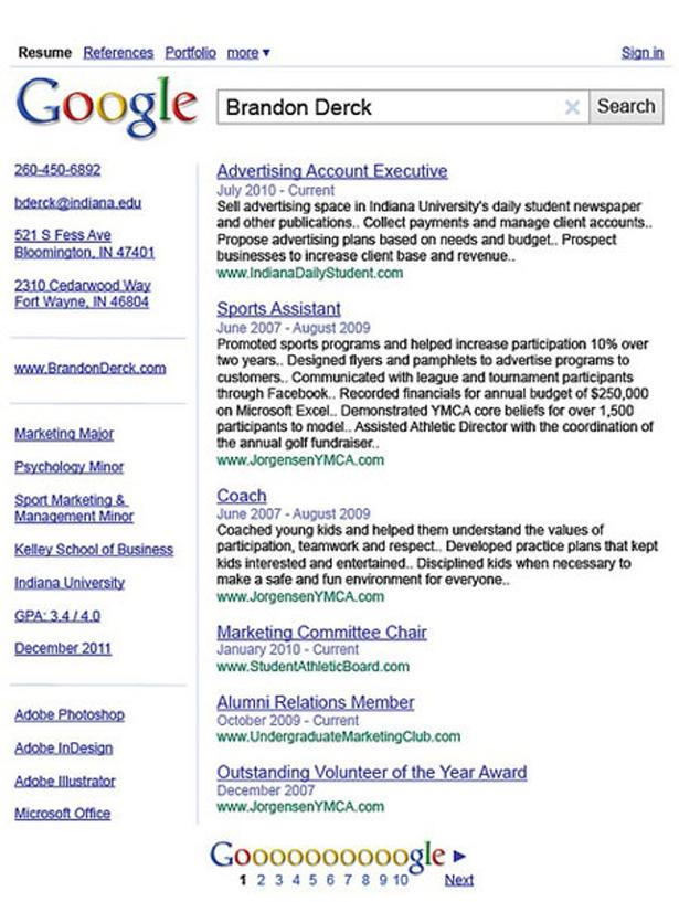 googlecv