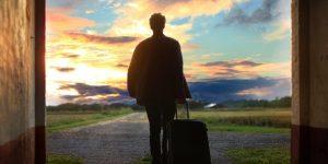 man-luggage